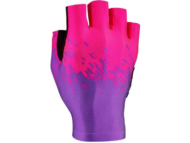 Supacaz SupaG Short Finger Gloves neon purple/neon pink